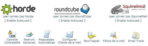 Configuración del correo premium mail y espamail